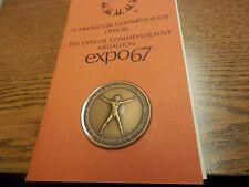 Montreal Canada 1967 Expo 67 Bilingual BRONZE Medal Vitruvian Man & His World