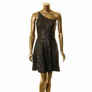 DRESS THE POPULATION Women's Tina One-shoulder Sequin Dress TEDO
