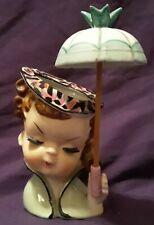 "Vintage 1950's 5 1/4"" Relpo ? Sophisticated Lady Teen Belle Umbrella Head Vase"