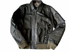 Tommy Hilfiger Men's Leather Bomber Jacket Size Large L / Mint Condition