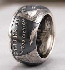 TOP QUALITY~SIZE 10~MORGAN DOLLAR 90% SILVER COIN RING~HAND MADE