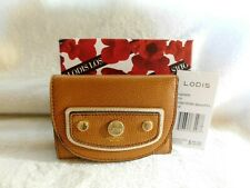 Lodis Pismo Pearl Mallory French Purse RFID Toffee + Metallic Trim NWT MSRP $72