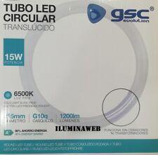 Tubo Led circular 15w T9 = Fluorescente 22w G10q 215mm 4 pin Luz Blanca 6500k