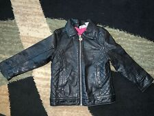 Amy Coe Black Leather Jacket Girls 18months