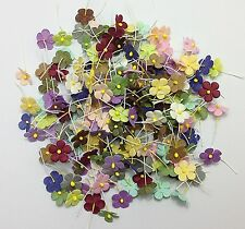 200 Mixed Random Colors2 Mini Flowers Paper Card Making Scrapbooking Craft DIY