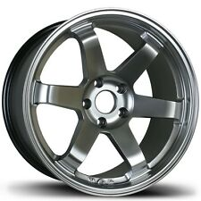 Avid1 AV06 Rims 18x8.5 +35 5x114.3 Hyper Black Accord Lancer Mazda 3 Sonata TSX