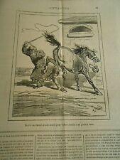 Caricature 1878 - Exerce un cheval de son écurie pour offrir à une Général Russe