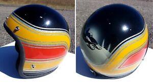 Vintage 1960's Metal flake Motorcycle Helmet Bobber Chopper Rat Fink Snowmobile