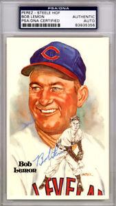 Bob Lemon Autographed Signed 1981 Perez-Steele Postcard Indians PSA/DNA 83935356