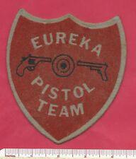 Old Eureka Rod & Gun Club New York NY Fishing Shooting Pistol Team Felt Patch