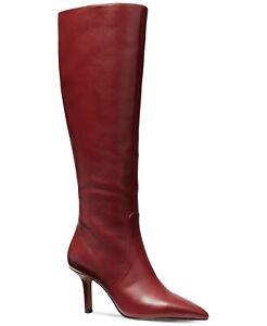 Michael Kors Katerina Women Knee High Boots Size US 5.5M Brandy Leather