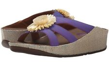 New FitFlop Rosita Purple Flower Slide sandals sz 43/11M
