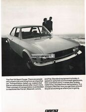 1970 Fiat 124 Sport Coupe Vtg Print Ad