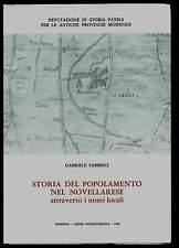 STORIA POPOLAMENTO NOVELLARA Reggio Emilia nomi locali Aedes Muratoriana 1980