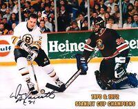 Don Marcotte Autographed 8x10 Boston Bruins Photo NHL