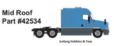N Scale Truck - Freightliner Cascadia mid Roof - Light Blue