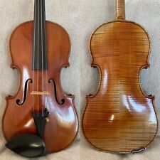 An Old French Violin c.1920 stamped ENEL-PARIS, labelled Jacques Bocquay