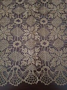 Beautiful crochet table cloth