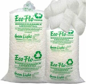 Packaging Quality Biodegradable Loose Void Fill Ecoflo Peanuts Chips 1cft - 60cf