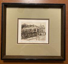 Beauregard House New Orleans Phillip Sage Signed Numbered Etching 1977 Framed