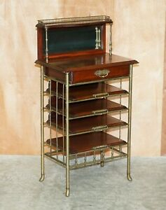 REGENCY CIRCA 1810 GILT BRONZE AND MAHOGANY SHEET MUSIC STAND CHEST OF DRAWERS