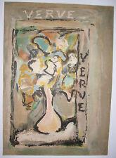 gravure lithographie originale vintage print Rouault Fleurs Verve 1938