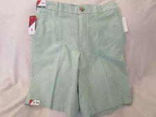 "Men's ""IZOD"" Size 32, Green, Newport Oxford, Flat Front, Casual Shorts"