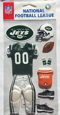 "Ek Success Nfl ""New York Jets"" Team Uniform Dimensional Stickers"