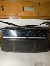 Vintage Magnovox Model No. D 8300 Dual Deck Stereo AM/FM Radio Cassette Recorder