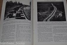 1941 magazine article - U.S. Highway & Road Use, Army maneuvers, highway design