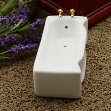 Porcelain Bathroom Furniture Bathtub for 1/12 Dollhouse Miniatures White