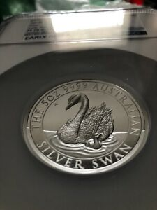 2018 Australia 5 oz Silver Swan High Relief Coin PF70 Ultra Cameo Early Releases