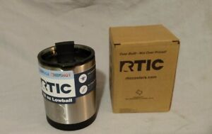 RTIC 12 oz Lowball Tumbler Stainless Steel with Fliptop Lid