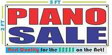 PIANO SALE Banner Sign NEW Larger Size Best Quality for the $$$ Music Pawn Shop