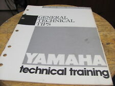 1987 Yamaha General Technical Tips Trainning 10 pgs