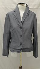 Lilith Shiny Taupe Gray Jacket with Double Collar Sz S/40
