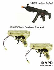 JG Airsoft AEG ABS Plastic Gearbox Mp5 mp7 mp5k x 2 two Internals Jing Gong