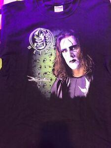 RARE MINT VINTAGE ORIGINAL STING WCW Back in Black T-shirt. Large 2-Sided