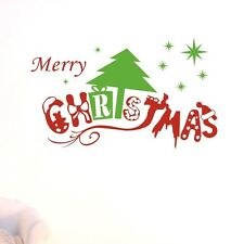 Merry Christmas Tree Stars Wall Decals Removable Window Stickers Decor Kids Art