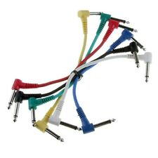 """Lot of 6-Pack Color Guitar Patch Cable Effects Pedal 1/4"""" Right Angle AMP Cords"""