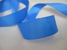 25 Metre Full Rolls of 10mm and 25mm Wide Woven Edge Grosgrain Ribbon Royal Blue 25mm