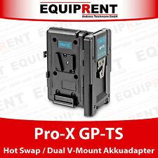 Pro-X GP-TS Hot Swap V-Mount / V-Lock Doppel Akkuadapter mit D-Tap (EQ972)