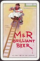 Playing Cards Single Card Old M&R MOORS ROBSON Brewery BEER Advertising PAINTER