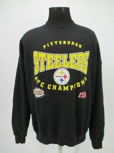 P5208 VTG Lee Pittsburgh Steelers AFC Champions Sweatshirt Made In USA Size 2XL