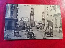 belle CPA animée - Maroc - Casablanca - Boulevard de l'Horloge - Attelage - Ane