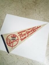 Vintage 1960's New York Yankees baseball souvenir home of champions pennant