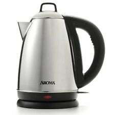 Aroma Hot H20 X-Press 1.5  Liter (6-Cup) Cordless Electric Water Kettle, Stainle