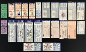 New York Mets Lot of 23 Game Tickets Baseball 1986 Old Timers Carlton Last Game