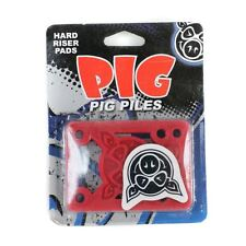 "PIG Pile Pro Skateboard Skate RISERS Hard Rosso 1/8"" PASTIGLIE NUOVE"