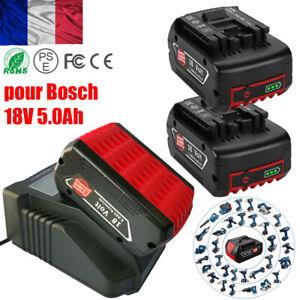 Batterie pour Bosch 18 V 5Ah Li-Ion GBA BAT609 BAT618 BAT620 GSB BAT619 chargeur